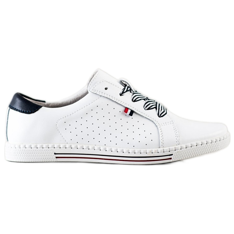 Filippo Stylish Leather Sneakers white