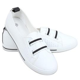 White women's sneakers 6284 Black