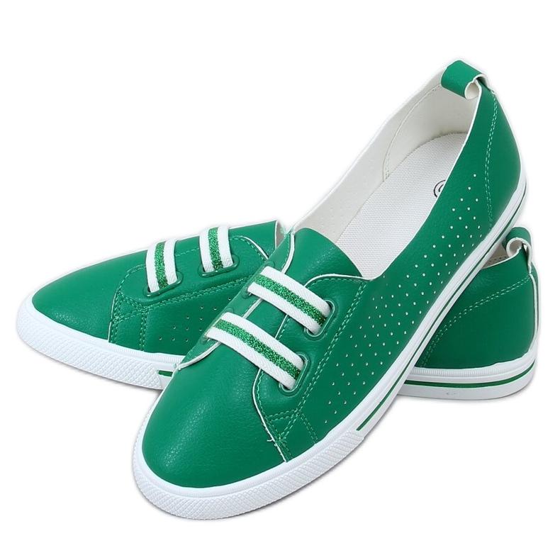 Green women's sneakers 6283 Green