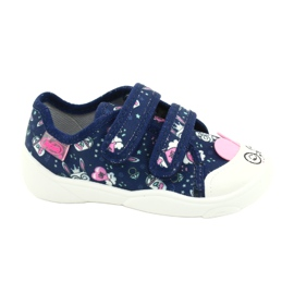 Befado children's shoes 907P127 white navy pink silver