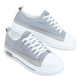 Gray women's sneakers LA173P Gray grey