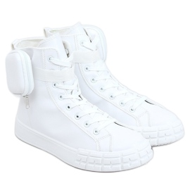 Sneakers for the ankle with a sachet white VL142 White