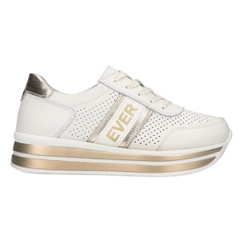 Women's sports shoes Filippo white and gold golden