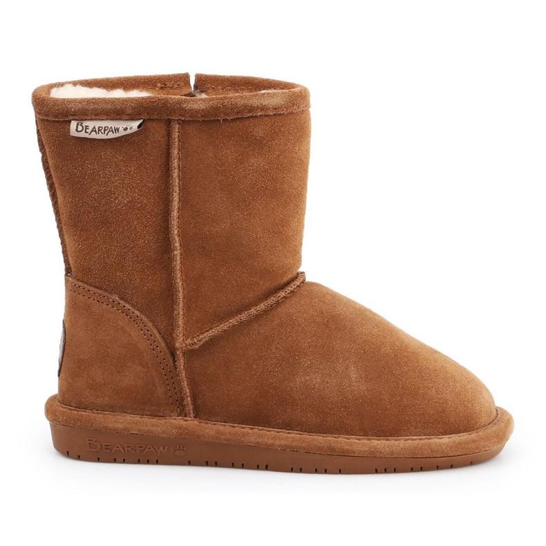 BearPaw Hickory Ii Jr.608TZ shoes brown navy blue