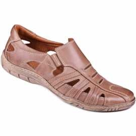 Kampol Men's openwork shoes for the summer 16/13 brown