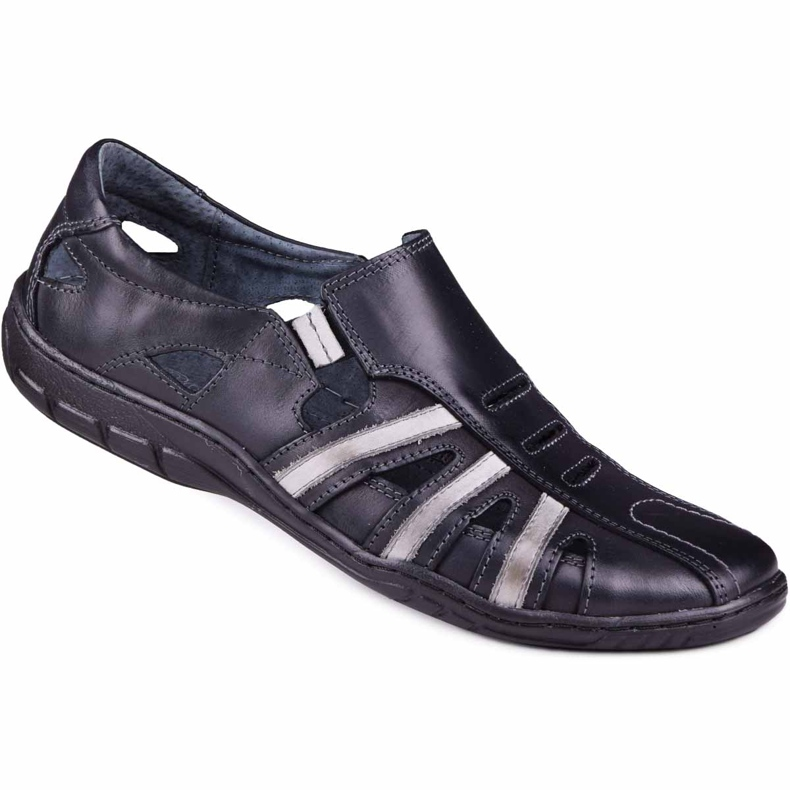 Kampol Men's openwork shoes for the summer 16/10 black