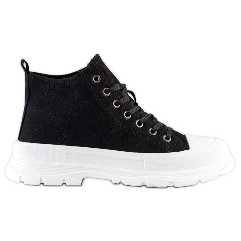 SHELOVET High Sneakers On The Platform black