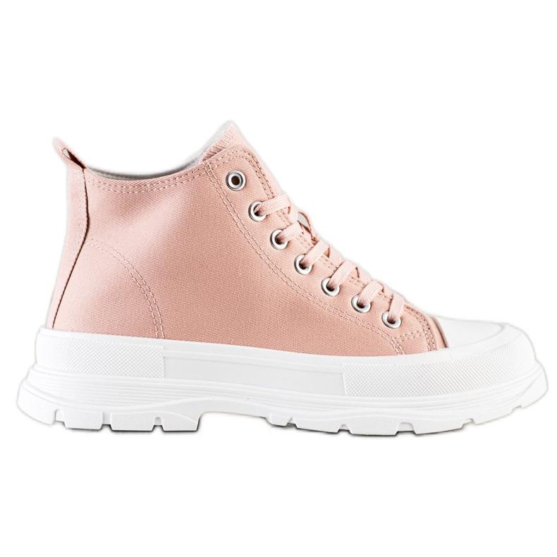 SHELOVET High Sneakers On The Platform pink