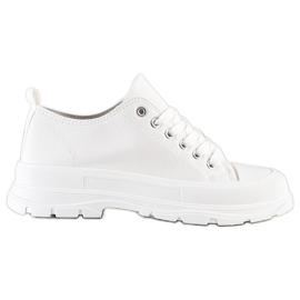 SHELOVET White Sneakers On The Platform