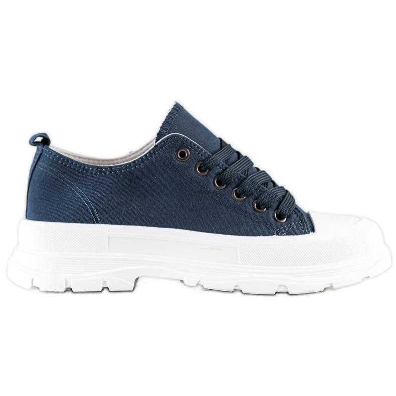 SHELOVET Navy Blue Sneakers On The Platform