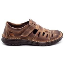Joker Men's openwork shoes 501 brown