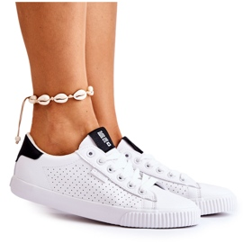 Women's Leather Sneakers Big Star HH274071 White and Black