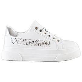 SHELOVET White Sneakers On The Fashion Platform