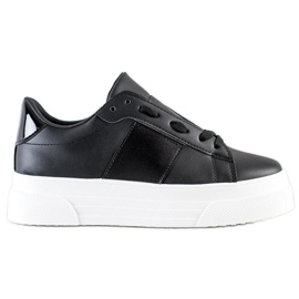 SHELOVET Sneakers With Eco Leather On The Platform black