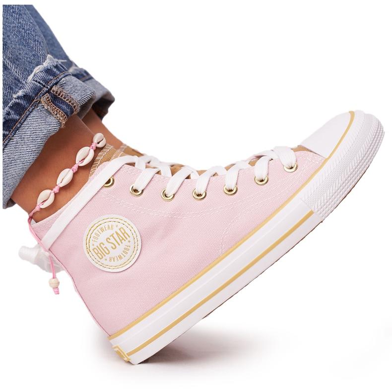 Women's High-top Sneakers Big Star HH274447 Pink