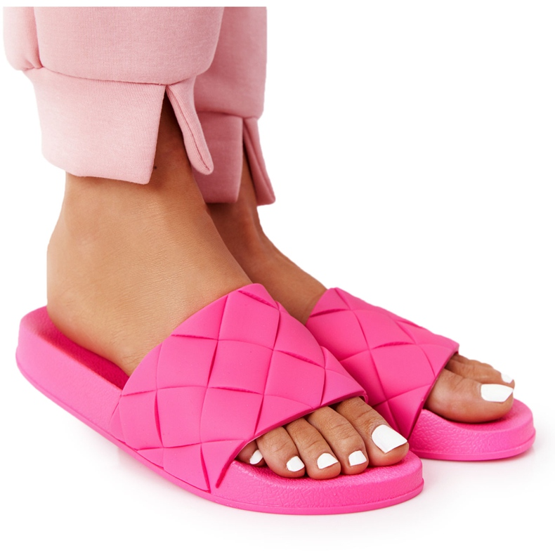 PS1 Women's Rubber Slippers Fuchsia Let's Swim pink