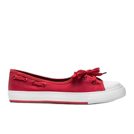 Alana's red half-sneakers
