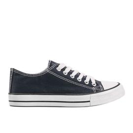 Classic navy blue low sneakers Destini