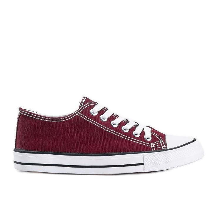 Classic burgundy low sneakers Destini red