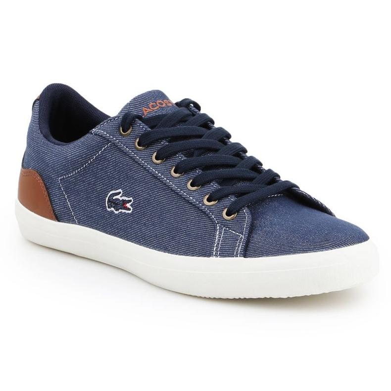 Lifestyle shoes Lacoste Lerond 317 2 Cam M 7-34CAM00422Q8 white brown navy blue