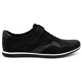 Polbut Men's casual leather shoes 2102/2 black