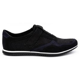 Polbut Men's casual leather shoes 2102 / 2L black