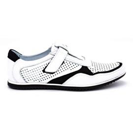 Polbut Men's casual leather shoes 2102 / 2L white