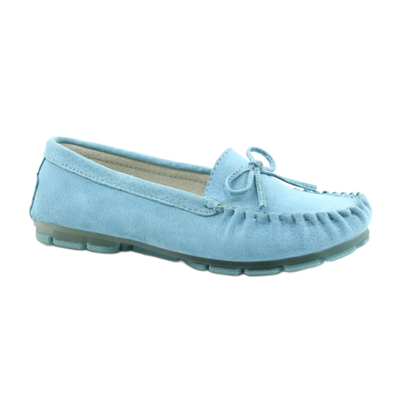 Women's Leather Loafers Blue Filippo DP1204 / 21 BL