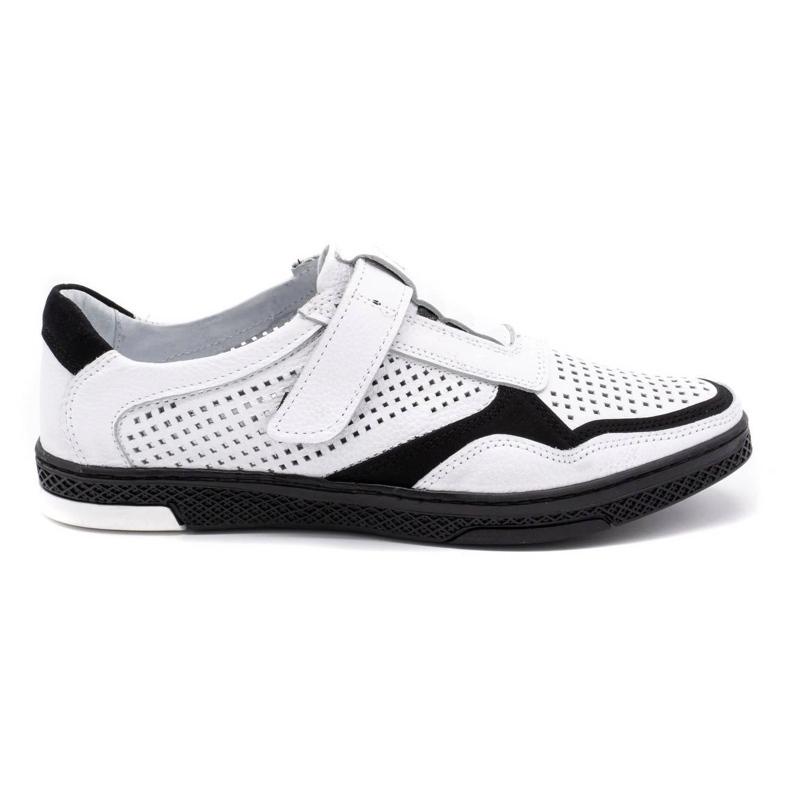 Polbut Men's casual leather shoes 2102L white