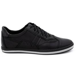 Polbut 1801L black casual men's shoes