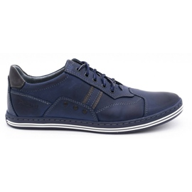 Polbut 1801 navy blue casual men's shoes