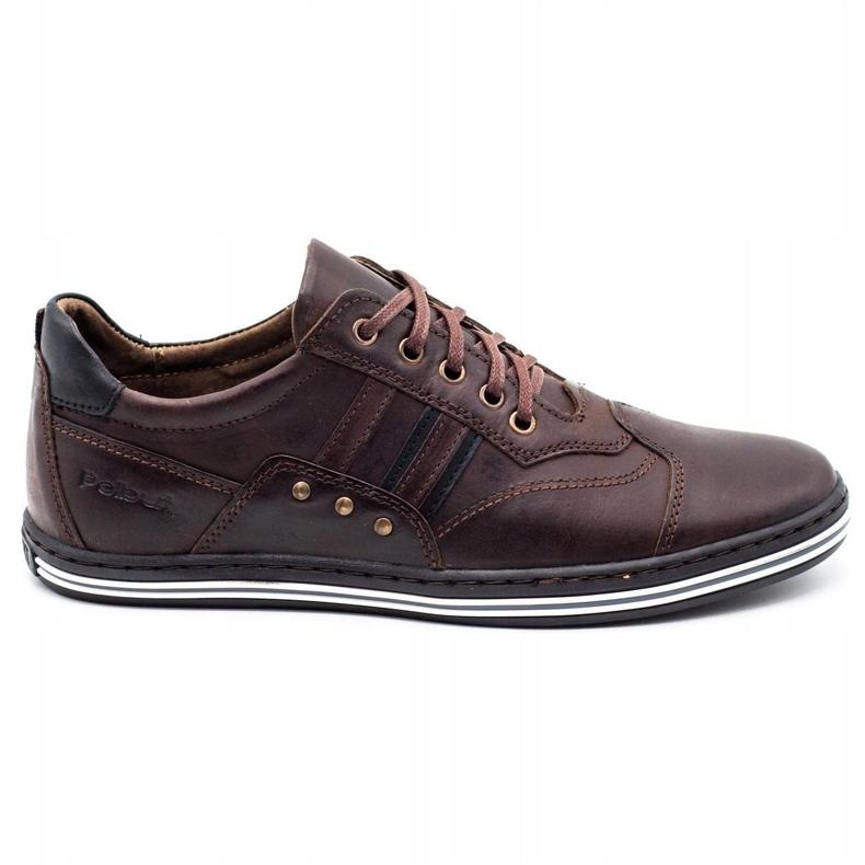 Polbut Men's casual shoes 1801 dark brown