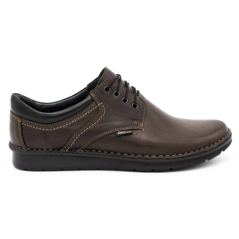 Kampol Casual men's shoes 11 / CZEK dark brown