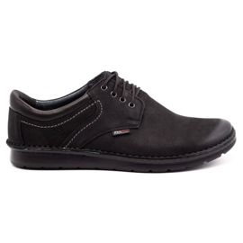 Kampol Casual men's shoes 11/3 black nubuck