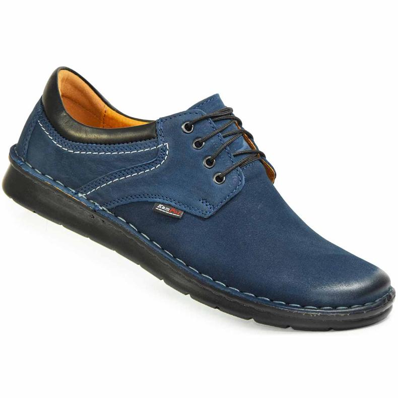 Kampol Men's casual shoes 11/54 navy blue