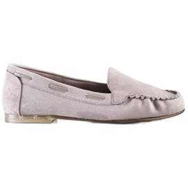 Gray loafers by Sergio Leone beige
