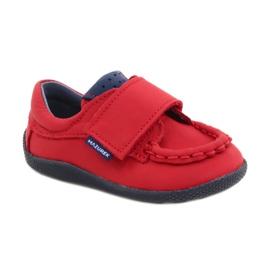 Mazurek Red Velcro Loafers 113 navy blue