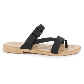 Crocs Tulum Toe Post Sandal W 206108-00W black