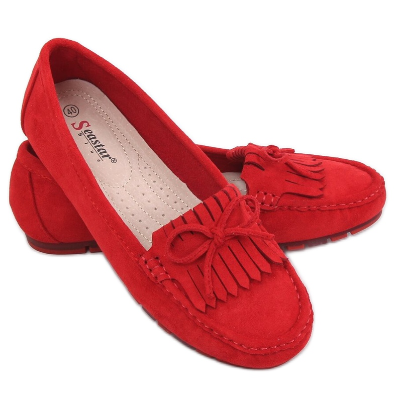 Red Women's loafers red GS11P Red