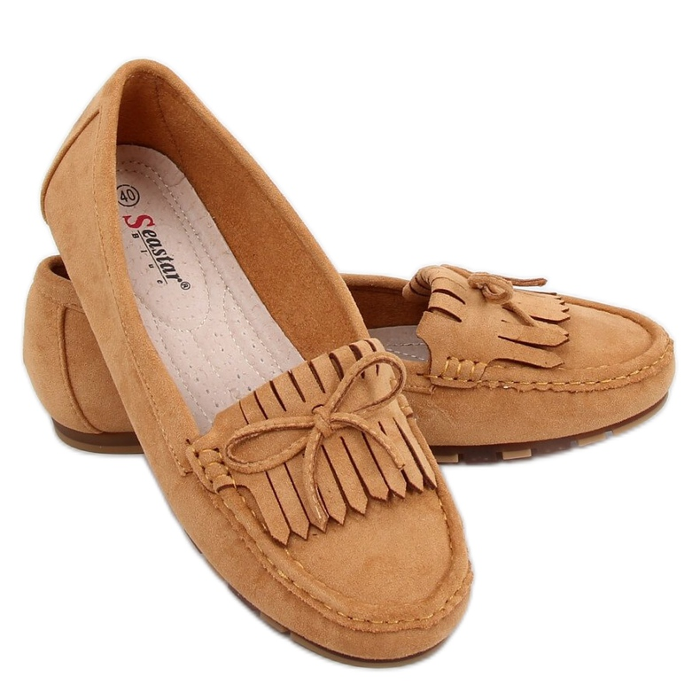 Camel GS11P Tan women's loafers brown