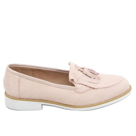 Women's beige loafers AB687 Nude