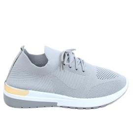 Gray G-363 Gray socks sport shoes grey