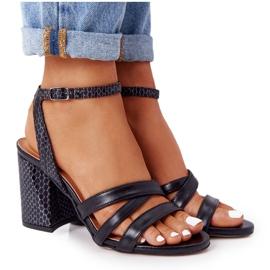 PV3 Leather Sandals On A Bar Black Visconi 4400476