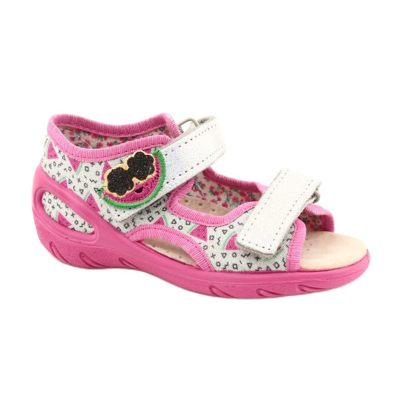 Befado sandals children's shoes 065P148 pink silver grey
