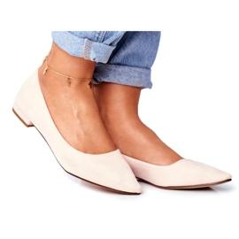Evento Westley Beige Spitz Ballerina Shoes