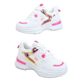 Women's sports shoes white and pink HX-68 Red