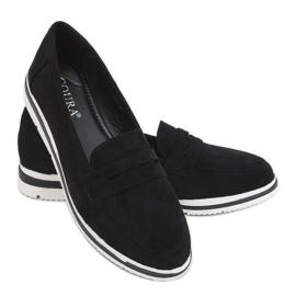Black 1151 Black high-soled loafers