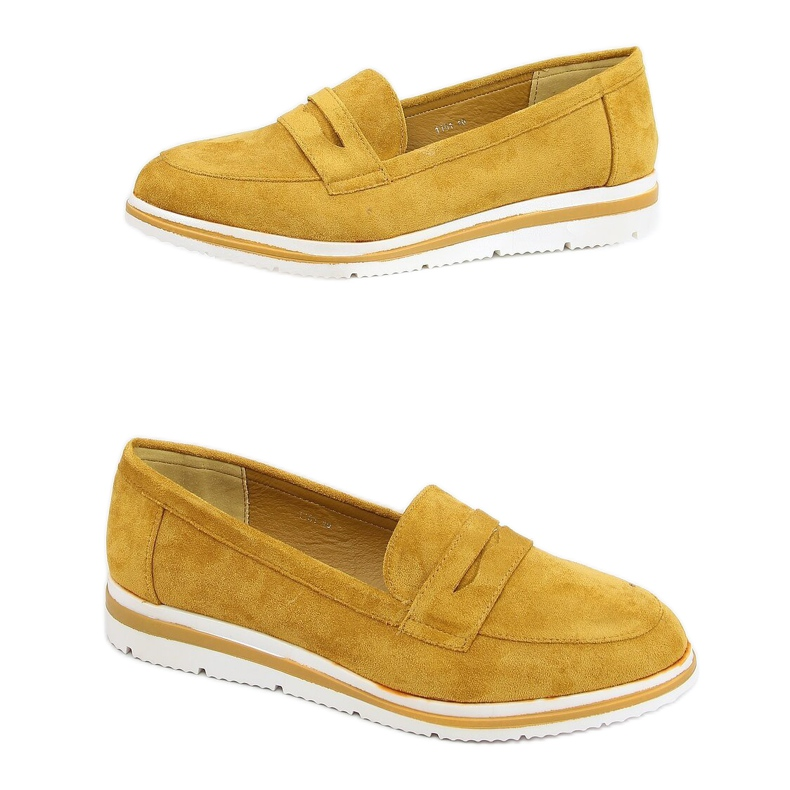 High-soled loafers mustard 1151 Yellow