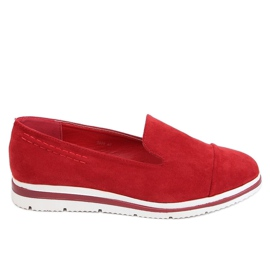 High-soled loafers red 5836 Red