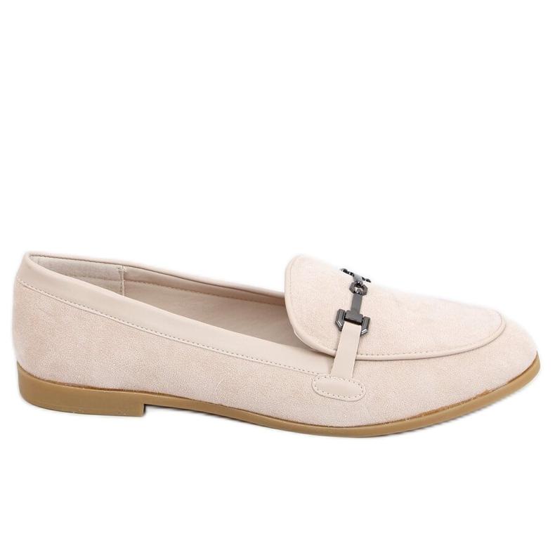 Women's beige loafers 8742 Beige